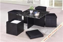 TICO (COFFEE TABLE+4 FOLDING)